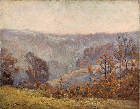 Valley Scene (Late November) by Theodore Clement Steele (1847-1926, United States)