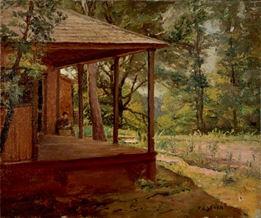 View of the Porch by Theodore Clement Steele (1847-1926, United States)
