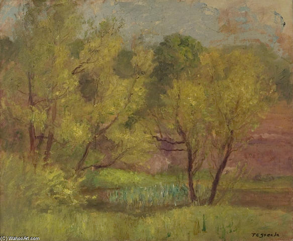 Willows in Spring by Theodore Clement Steele (1847-1926, United States)