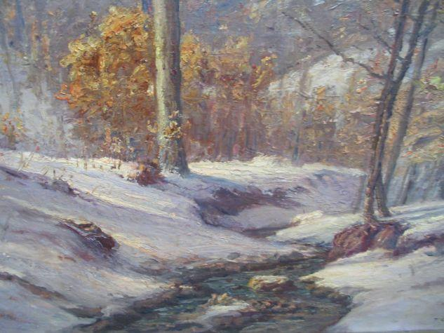 Winter Morning in the Ravine 1 by Theodore Clement Steele (1847-1926, United States)