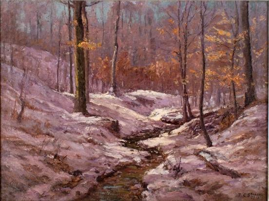 Winter Morning in the Ravine by Theodore Clement Steele (1847-1926, United States) | ArtsDot.com