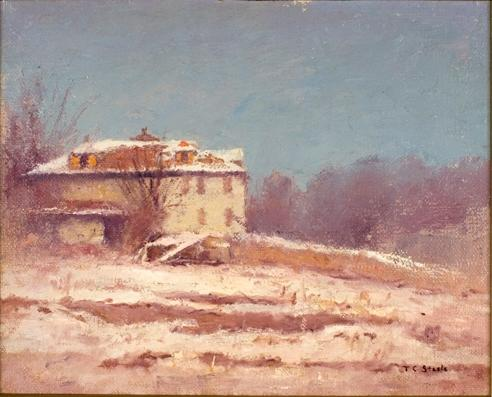Order Painting Copy : Winter Scene 1 by Theodore Clement Steele (1847-1926, United States) | ArtsDot.com