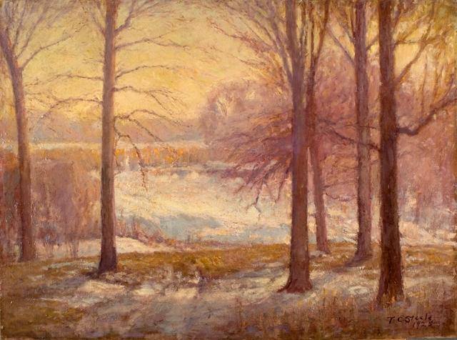 Winter Scene by Theodore Clement Steele (1847-1926, United States) | ArtsDot.com