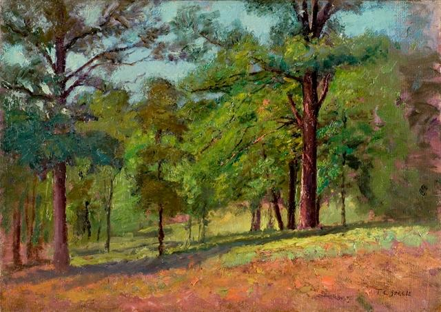 Wooded Slope (The Hill Slope, Midsummer) by Theodore Clement Steele (1847-1926, United States)