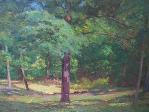 Theodore Clement Steele - Woodland Scene (Forest Interior)