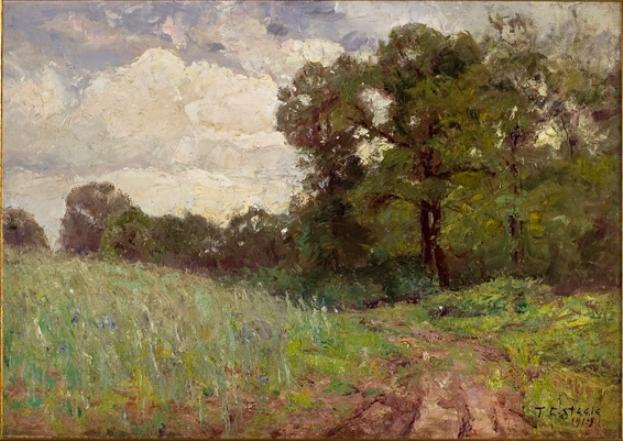 Woods and Sky (cloud study) by Theodore Clement Steele (1847-1926, United States) | ArtsDot.com