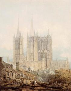 Thomas Girtin - Lincoln Cathedral from th..