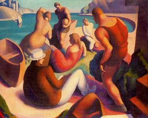 Thomas Hart Benton - The Beach