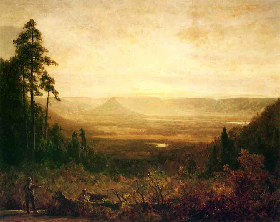 Hunter at Sunrise, Oil On Canvas by Thomas Hill (1829-1908, United Kingdom)