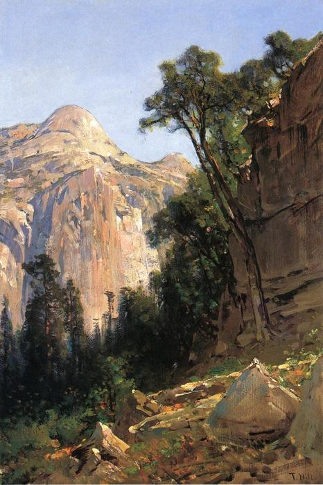 North Dome, Yosemite Valley by Thomas Hill (1829-1908, United Kingdom)