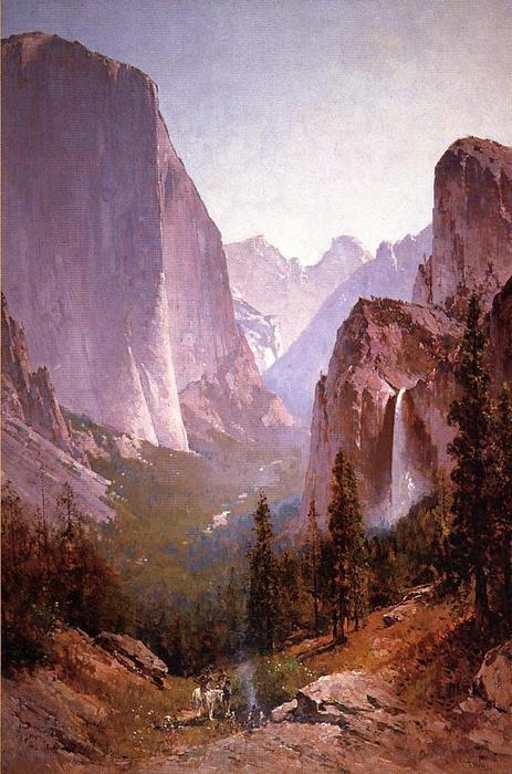 Yosemite, Oil On Canvas by Thomas Hill (1829-1908, United Kingdom)