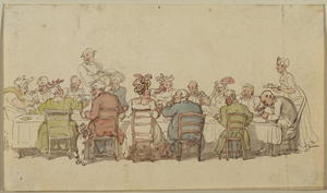 Thomas Rowlandson - Dinner party