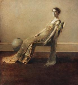 Thomas Wilmer Dewing - Green and Gold