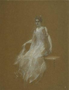 Thomas Wilmer Dewing - Lady in White 1