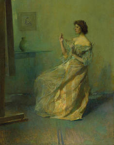 Thomas Wilmer Dewing - The Necklace