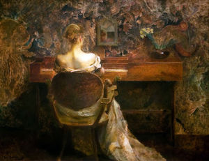 Thomas Wilmer Dewing - The Spinet