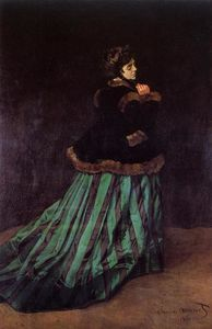 Claude Monet - Camille (also known as The Woman in a Green Dress)