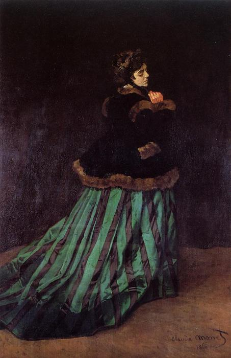 Camille (also known as The Woman in a Green Dress), 1866 by Claude Monet (1840-1926, France) | Museum Quality Copies Claude Monet | ArtsDot.com