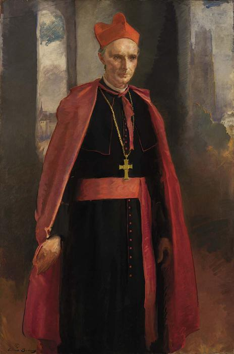 Cardinal Mercier, Oil On Canvas by Cecilia Beaux (1855-1942, United States)
