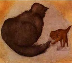 Edward Coley Burne-Jones - Cat and Kitten