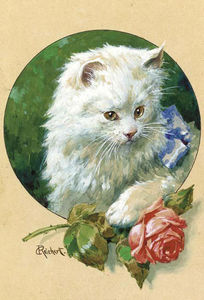 Carl Reichert - Cat and Rose