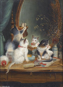 Carl Reichert - Cats in the Boudoir