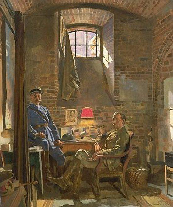 Cellar, Amiens by William Newenham Montague Orpen (1878-1931, Ireland)