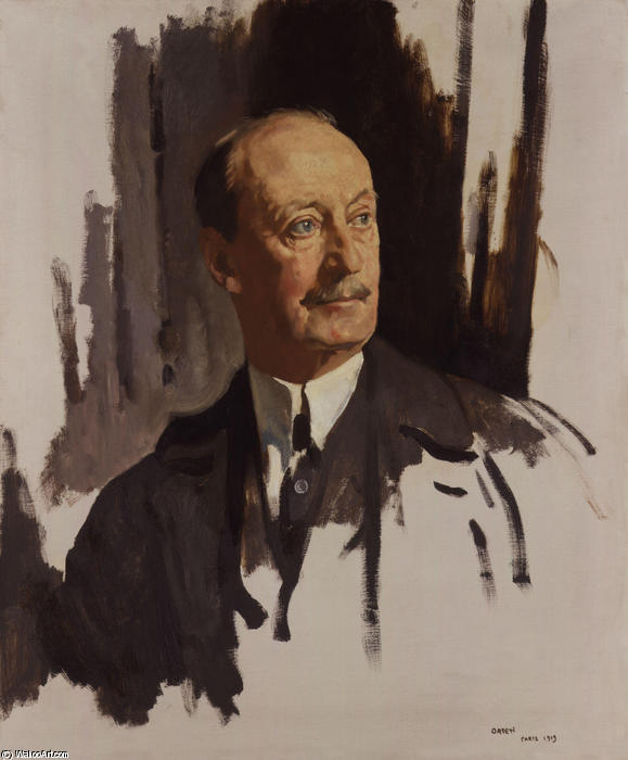 Charles Hardinge, 1st Baron Hardinge of Penshurst by William Newenham Montague Orpen (1878-1931, Ireland)