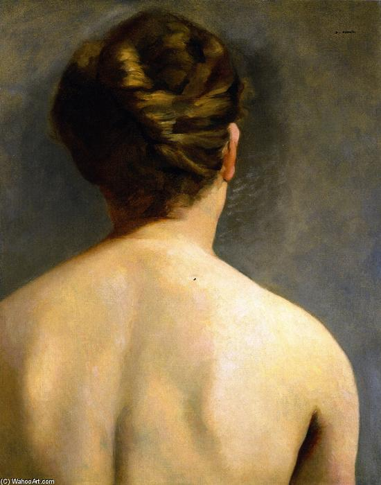 The Chignon, Oil On Canvas by Eva Gonzales (1849-1883, France)