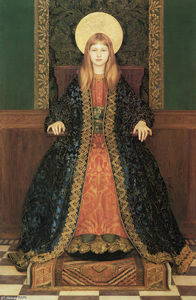 Thomas Cooper Gotch - The Child Enthroned