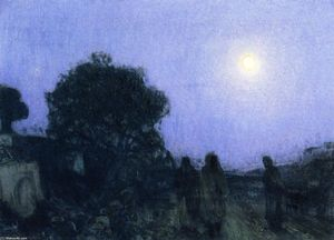 Henry Ossawa Tanner - Christ and His Desciples on the Road to Bethany