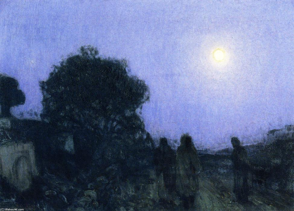 Christ and His Desciples on the Road to Bethany, Oil On Canvas by Henry Ossawa Tanner (1859-1937, United States)