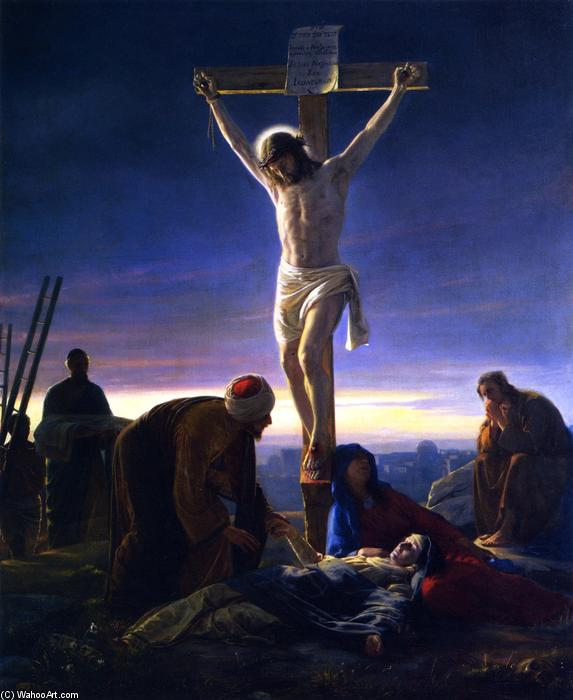 Christ on the Cross, Painting by Carl Heinrich Bloch (1834-1890, Denmark)