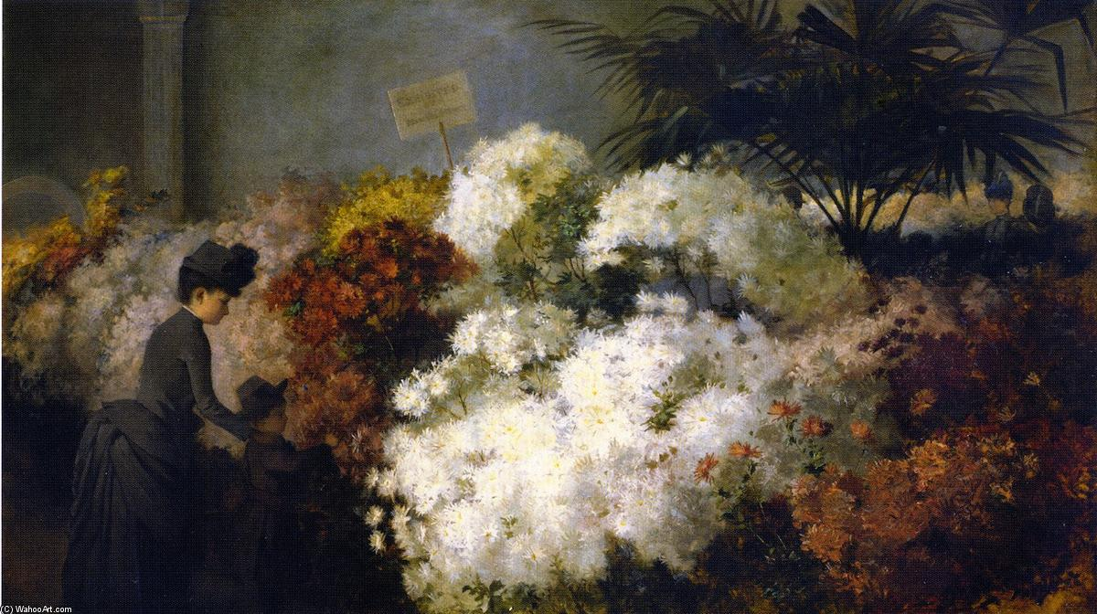 The Chrysanthemum Show, Oil On Canvas by Abbott Fuller Graves (1859-1936, United States)