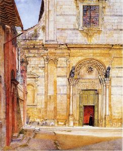 Henry Roderick Newman - The Church of San Giovanni, Lucca