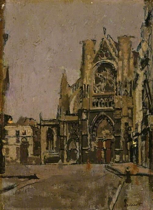 Buy Museum Art Reproductions | Church of St Jacques, Dieppe, 1900 by Walter Richard Sickert (1860-1942, Germany) | ArtsDot.com