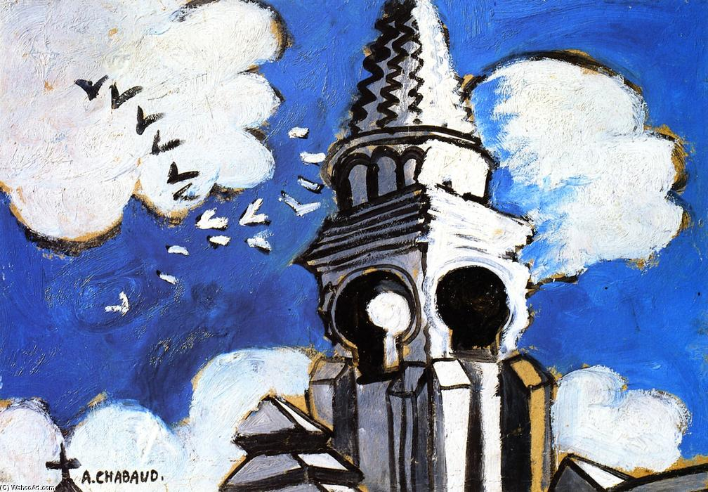 Church Spire, Oil On Panel by Auguste Chabaud (1882-1955, France)
