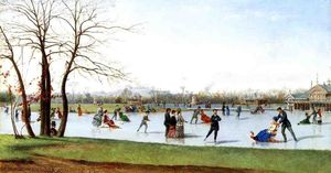 Conrad Wise Chapman - Circle of Skaters, Bois de Boulogne