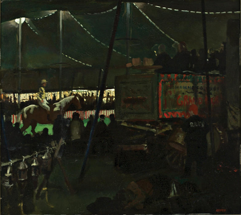 The Circus, Oil On Panel by William Newenham Montague Orpen (1878-1931, Ireland)