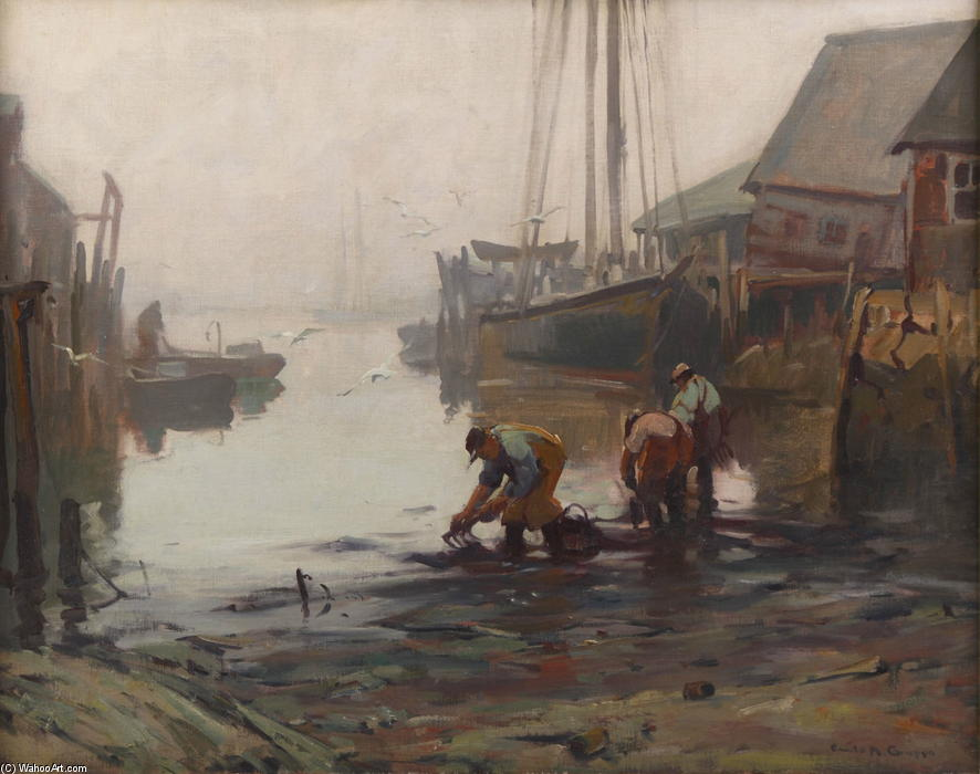 Clamming by Emile Albert Gruppé (1896-1978, United States)