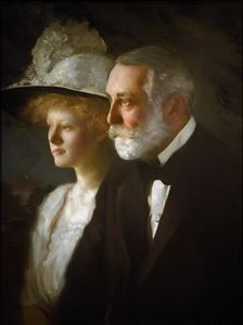 Edmund Charles Tarbell - Clay Frick with his daughter,Helen Clay Frick