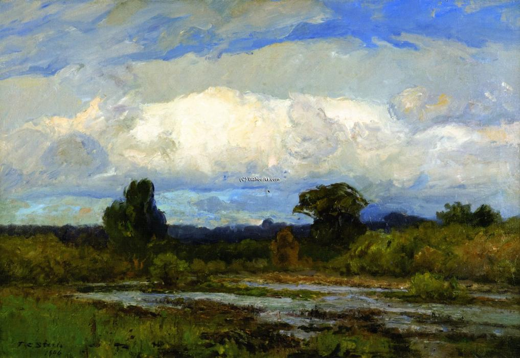 The Cloud, Oil On Canvas by Theodore Clement Steele (1847-1926, United States)