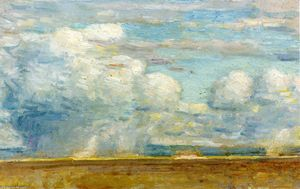 Frederick Childe Hassam - Clouds (also known as Rain Clouds over Oregon Desert)
