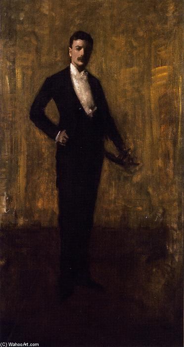 Colbert Huntington Greer, Portrait Sketch, Oil On Canvas by William Merritt Chase (1849-1916, United States)