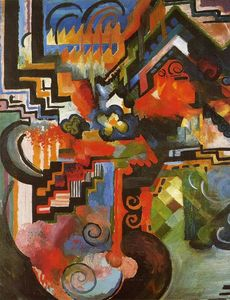 August Macke - Colored Composition (also known as Homage to Johann Sebastian Bach)