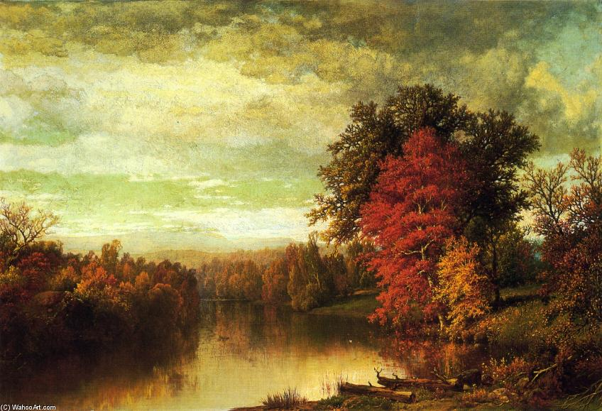 Color of the Fall, Oil On Canvas by William Mason Brown (1828-1898, United States)