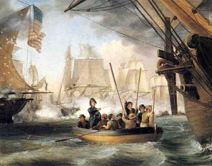 Thomas Birch - Commodore Perry Leaving the La..