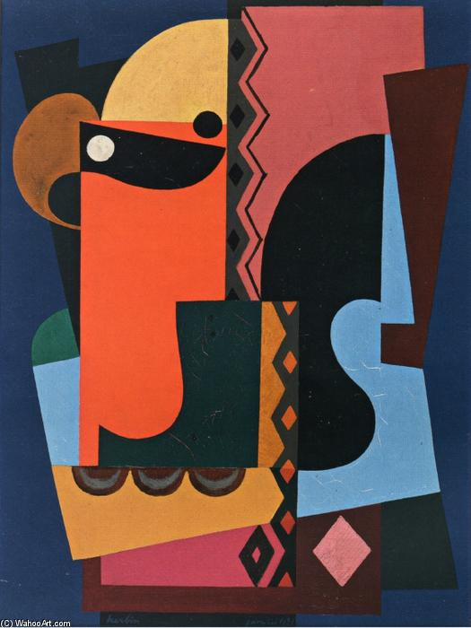 Composition, Painting by Auguste Herbin (1882-1960, France)