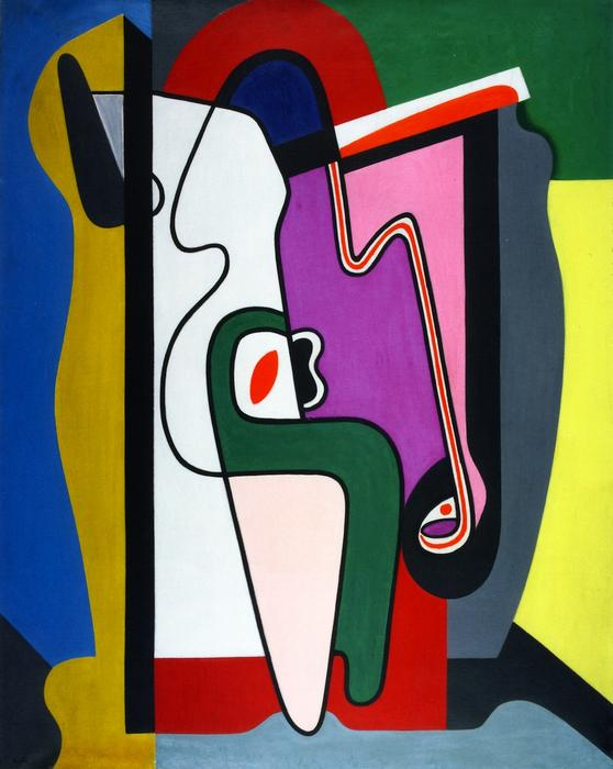 Composition, Oil On Canvas by Auguste Herbin (1882-1960, France)