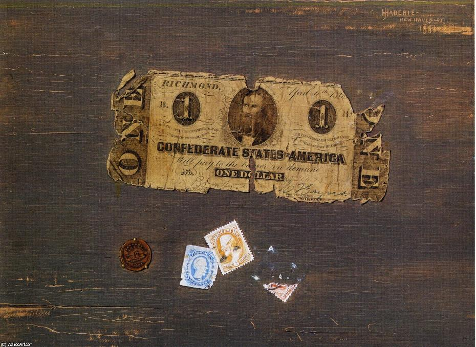 Confederate Note, Oil On Canvas by John Haberle (1856-1933, United States)